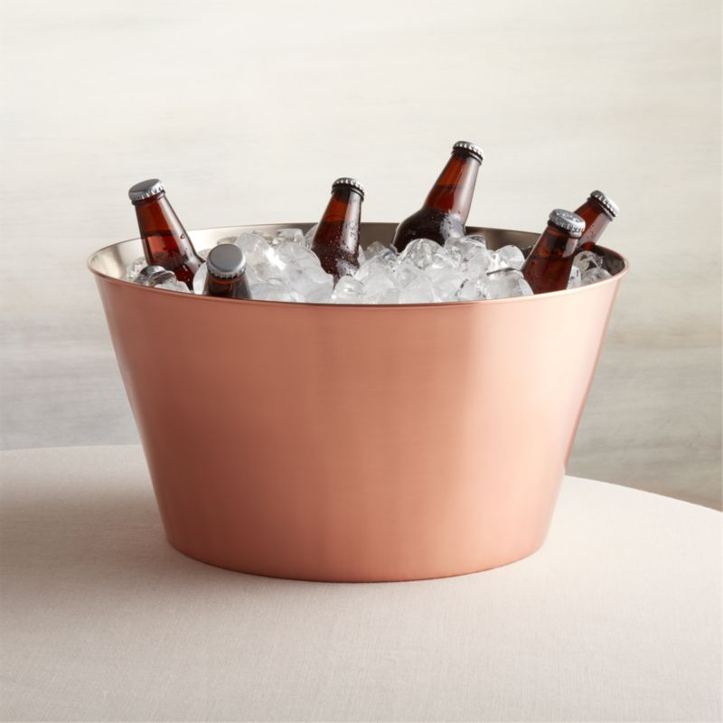 Houzz Store Martin Copper Beverage Tub + Reviews | Crate And Barrel