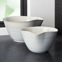 Mason Rustic Spouted Mixing Bowls, Set of 2 + Reviews ...
