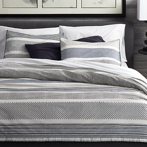 Tan Duvet Cover King Medina Duvet Covers And Pillow Shams | Crate And Barrel