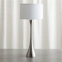 Melrose Nickel Table Lamp | Crate and Barrel