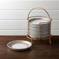 Metallic Plates with Stand, Set of 12 + Reviews | Crate ...