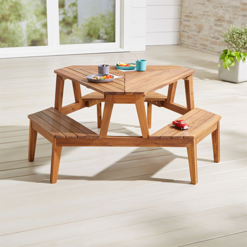 Modern Kids Picnic Table Reviews Crate And Barrel