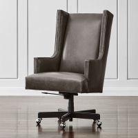 Neo Leather Wingback Office Chair Manhattan: Pewter ...