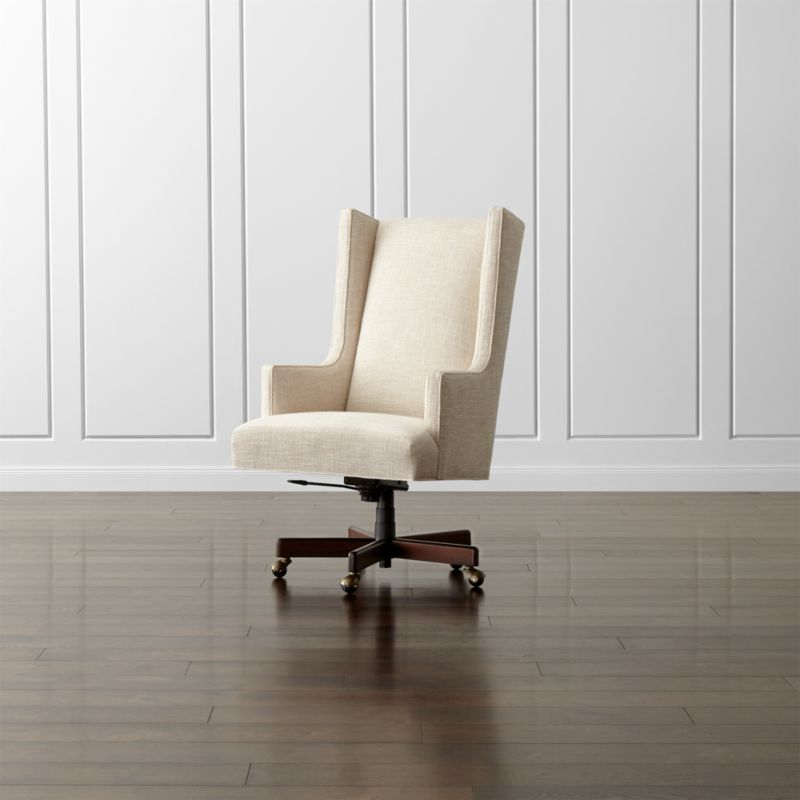 Neo Upholstered Wingback Chair Reviews Crate And Barrel