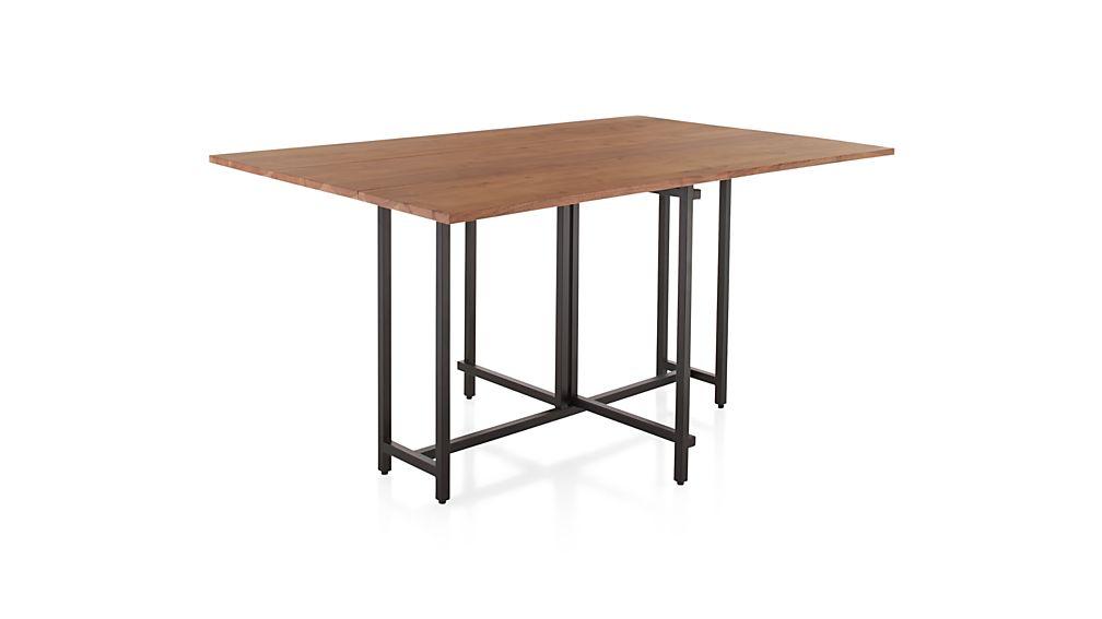 Folding Leaf Table Elegant Oak Finish Folding Leaf Table
