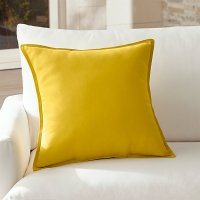 Sunbrella Yellow Outdoor Pillow | Crate and Barrel
