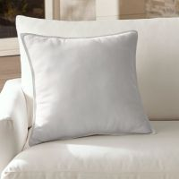 Sunbrella White Outdoor Pillow | Crate and Barrel