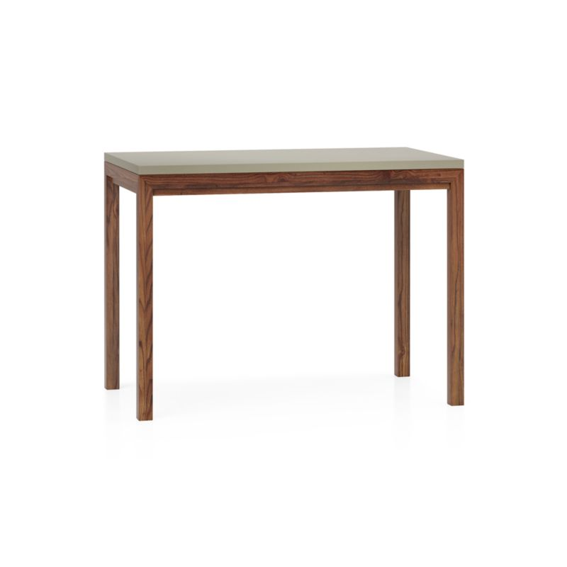 Parsons Grey Solid Surface Top Elm Base 48x28 High Dining