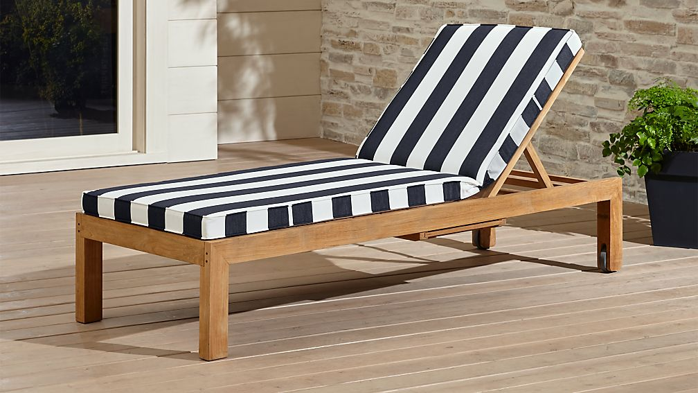 Sofa Fabric Hs Code Regatta Black And White Chaise Lounge | Crate And Barrel