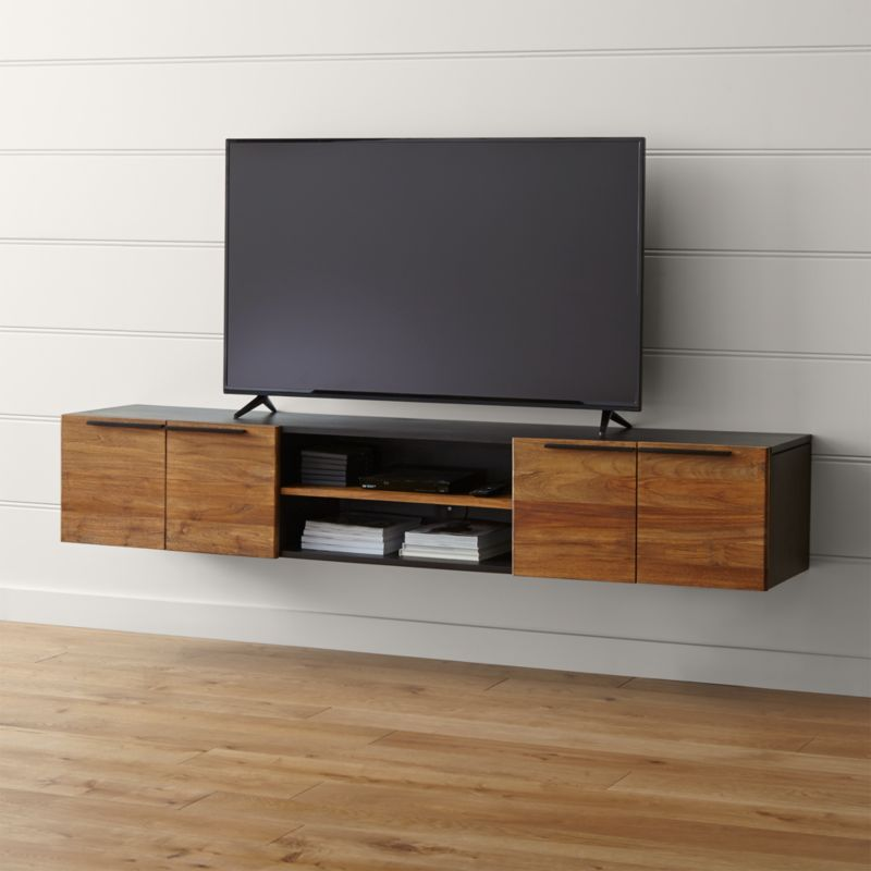 Rigby Natural 805quot Large Floating Media Console Reviews