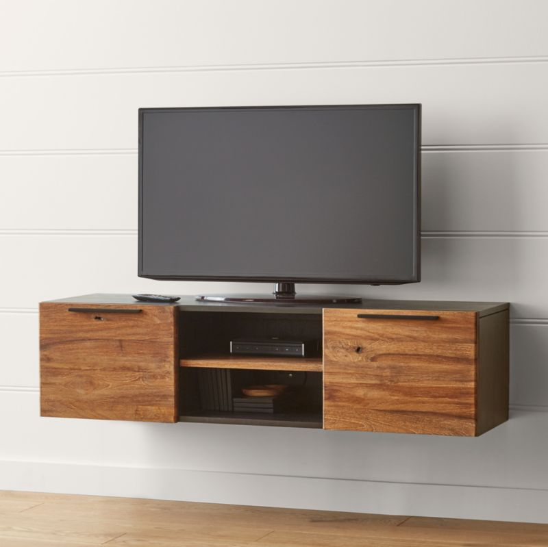 "Besta Tv Stand Rigby Natural 55"" Small Floating Media Console + Reviews"