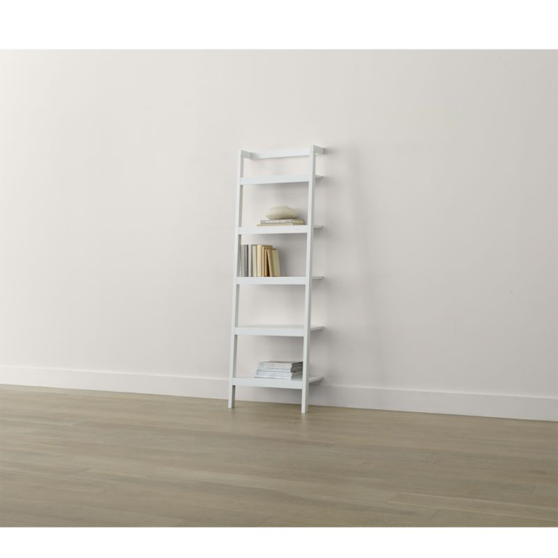 Sawyer White Leaning 245quot Bookcase Reviews Crate And