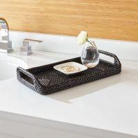 Sedona Black Vanity Tray | Crate and Barrel