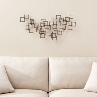 Squares Nail Metal Wall Art | Crate and Barrel