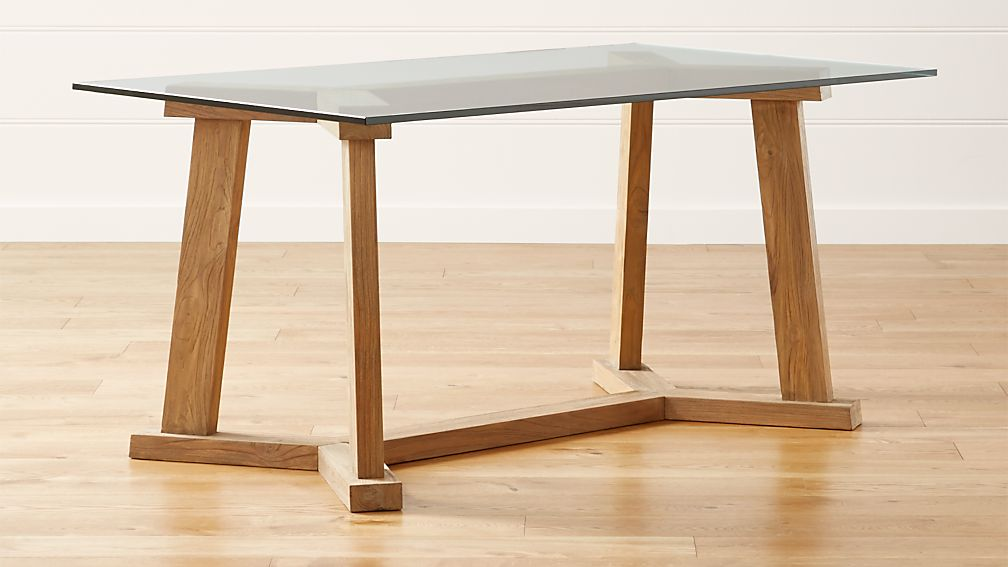 Dining Table Designs In Teak Wood With Glass Top