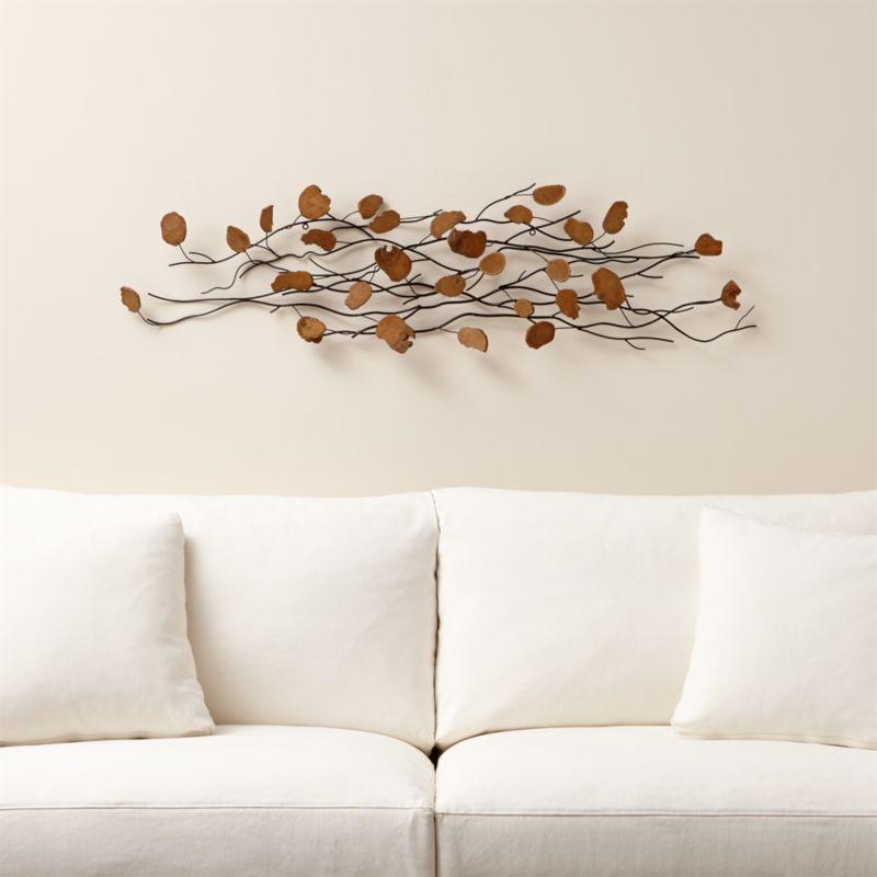 Artistic Quotes Wallpaper Teakroot Discs Wood Wall Art Crate And Barrel
