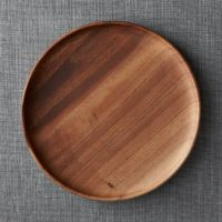 Tondo Wooden Platter + Reviews | Crate and Barrel