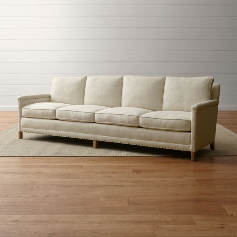 Sofa Fabric Hs Code Trevor Oatmeal 4 Seater Sofa + Reviews | Crate And Barrel