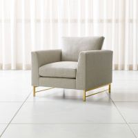 Tyson Chair with Brass Base + Reviews | Crate and Barrel