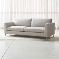 Tyson Sofa with Brass Base + Reviews | Crate and Barrel