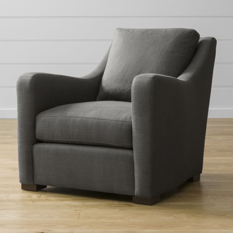 Verano Grey Accent Chair Crate And Barrel