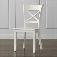 Vintner White Wood Dining Chair | Crate and Barrel