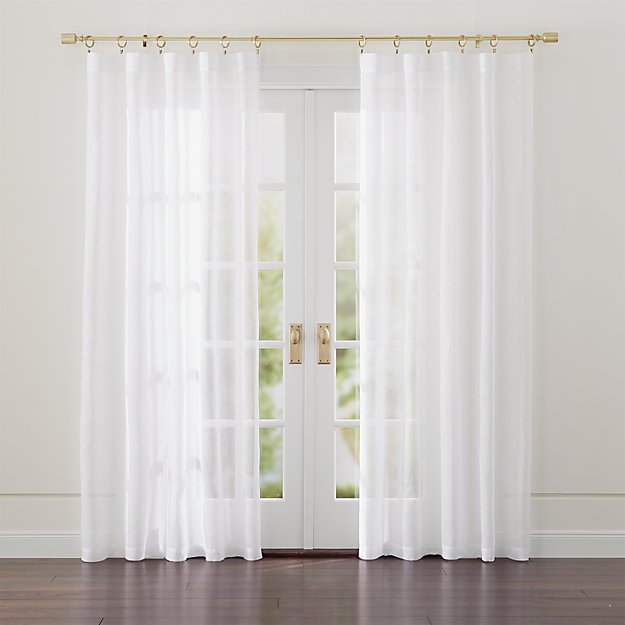 Linen sheer white curtains crate and barrel