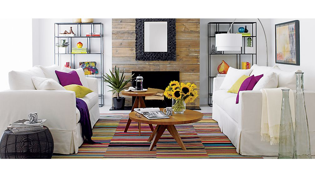 Willow Loveseat Crate and Barrel - crate and barrel living room