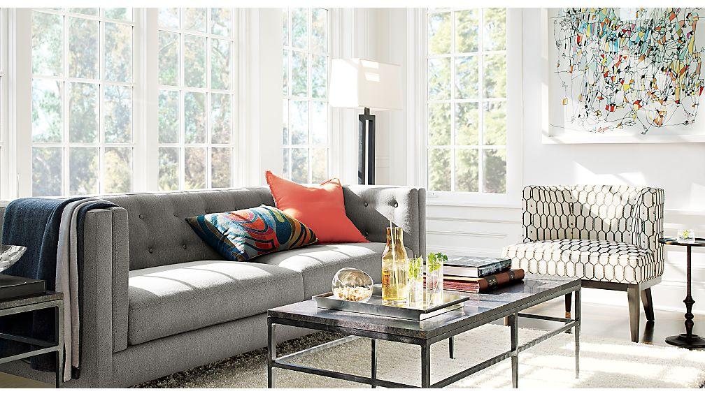 Aidan Sofa Crate and Barrel - crate and barrel living room
