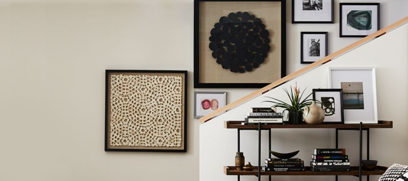 Art Wall Home Wall Decor Mirror Wall Art And Shelves Crate And Barrel