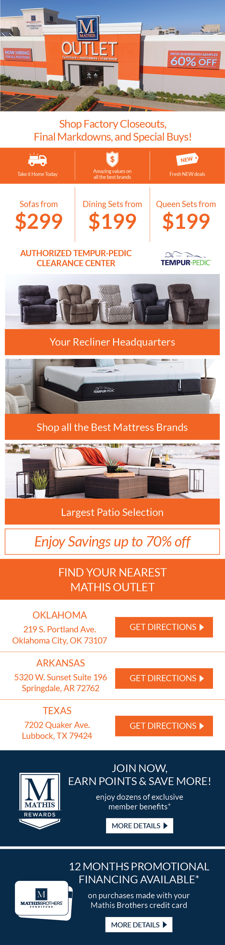 Mathis Outlet Mathis Brothers Furniture