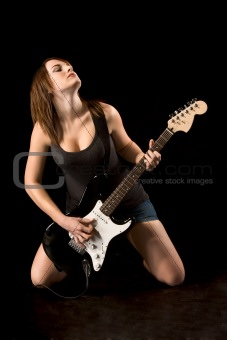 Rock N Roll Wallpaper For Girls Image 598353 Ecstatic Rock Guitarist Woman From Crestock