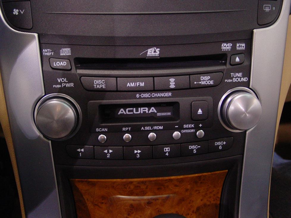 2004-2008 Acura TL Car Audio Profile