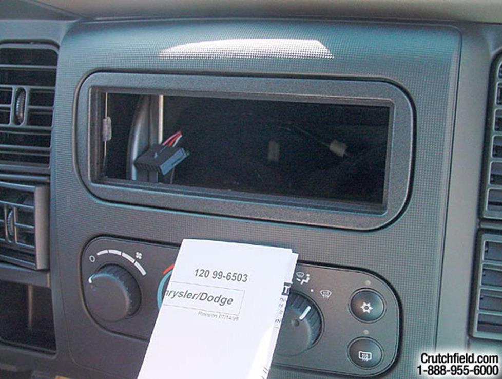 2002-2005 Dodge Ram 1500 Quad Cab Car Audio Profile