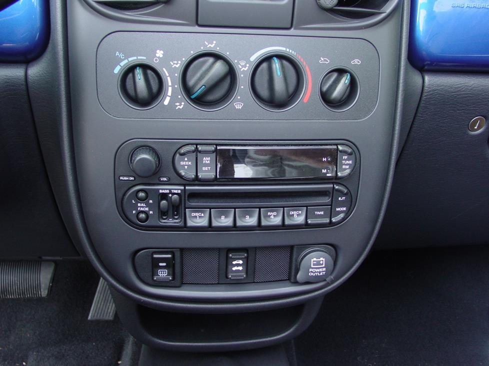 2001-2005 Chrysler PT Cruiser Car Audio Profile