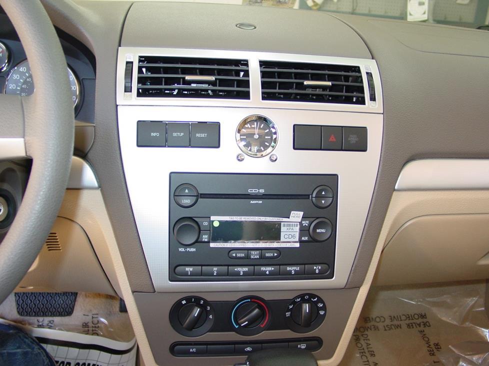 2006-2009 Ford Fusion and Mercury Milan Car Audio Profile