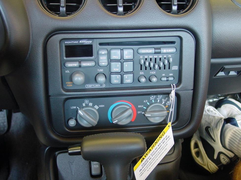 1997-02 Pontiac Firebird Car Audio Profile