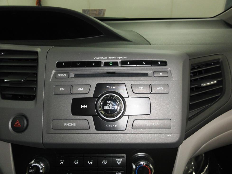 2012-2015 Honda Civic Car Audio Profile