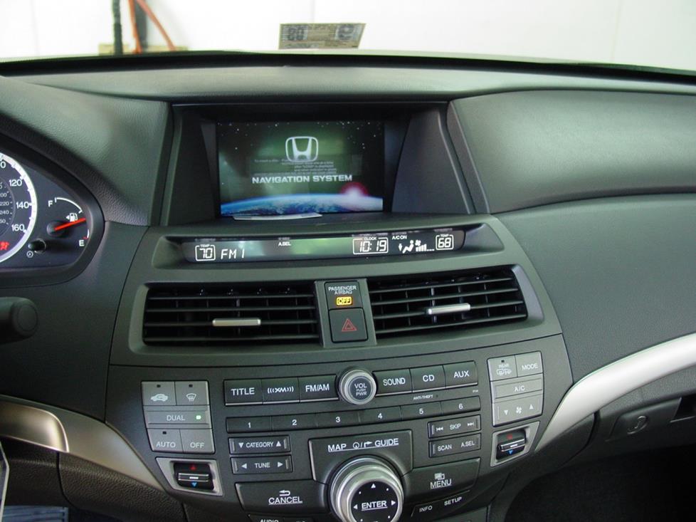 2008-2012 Honda Accord Sedan Car Audio Profile