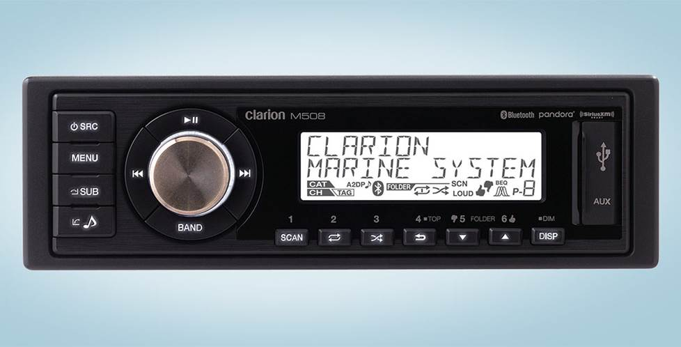Clarion M508 Marine digital media receiver with Bluetooth® (does not