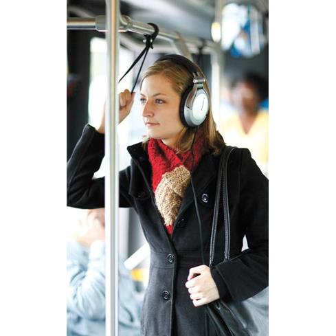 Don't turn headphones up to mask external noise such as a a loud subway car 1