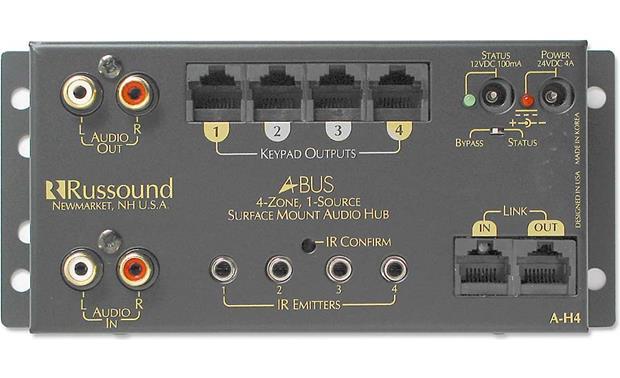 Russound A-H4 1-source, 4-zone A-BUS distribution hub at Crutchfield