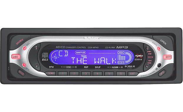 Sony CDX-MP40 CD/MP3 Receiver with CD Changer Controls at