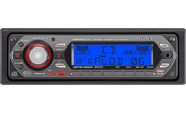 Sony CDX-GT400 CD player with MP3/WMA playback at Crutchfield