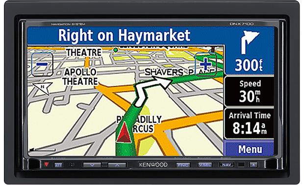 Kenwood DNX7100 DVD navigation receiver at Crutchfield