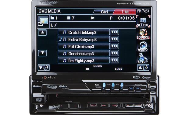 Kenwood Excelon KVT-614 DVD receiver at Crutchfield