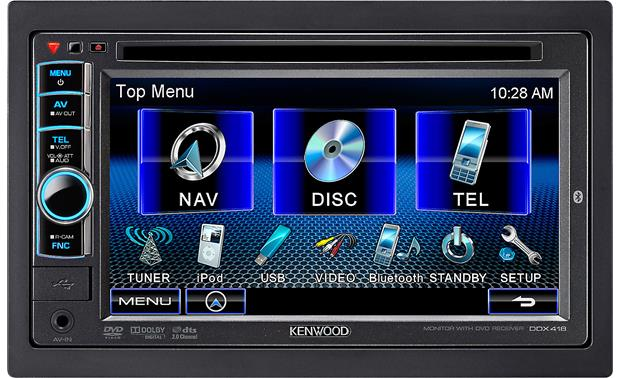 Kenwood DDX418 DVD receiver at Crutchfield