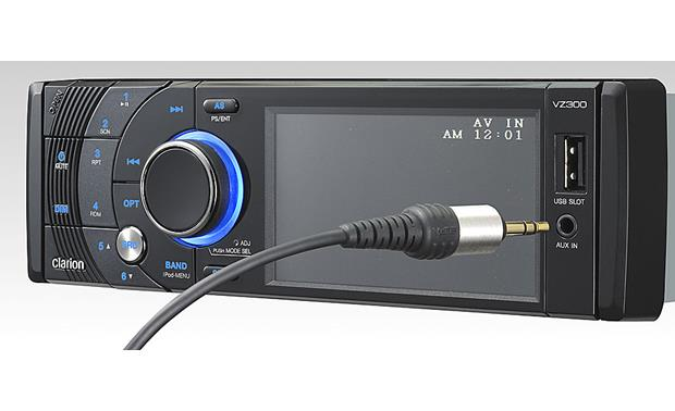 Clarion VZ300 DVD receiver at Crutchfield