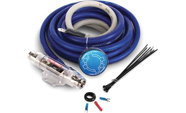 StreetWires ZeroNoise 5 ZN5K00 1/0-gauge amplifier wiring kit \u2014 blue