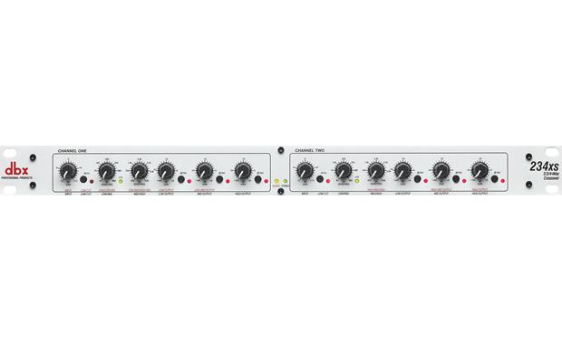 dbx® 234xs Stereo 2/3-way, mono 4-way crossover with XLR connectors